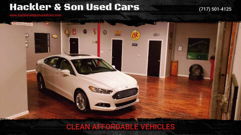 2015 Ford Fusion for sale at Hackler & Son Used Cars in Red Lion PA