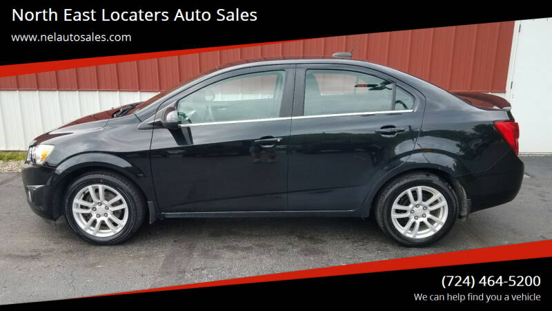 2015 Chevrolet Sonic for sale at North East Locaters Auto Sales in Indiana PA