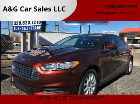 2016 Ford Fusion for sale at A&G Car Sales  LLC in Tucson AZ