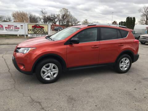 2015 Toyota RAV4 for sale at Cordova Motors in Lawrence KS