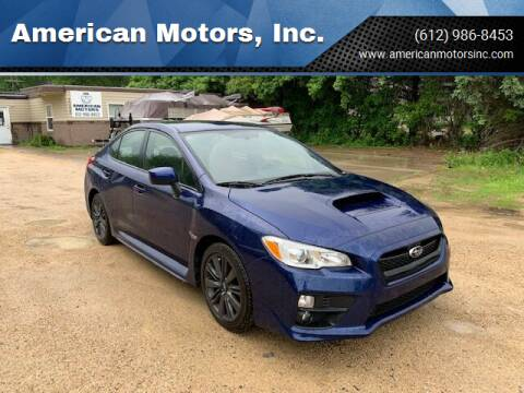 2016 Subaru WRX for sale at American Motors, Inc. in Farmington MN