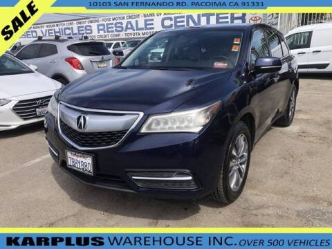 2014 Acura MDX for sale at Karplus Warehouse in Pacoima CA