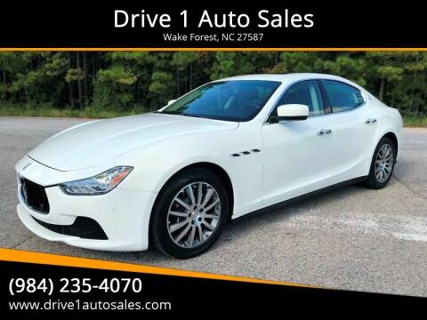2014 Maserati Ghibli for sale at Drive 1 Auto Sales in Wake Forest NC