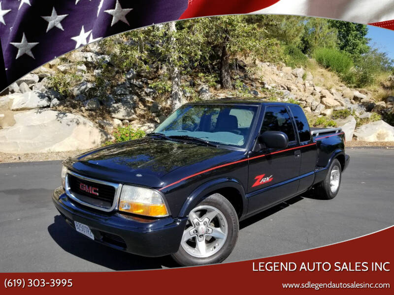 2003 GMC Sonoma for sale at Legend Auto Sales Inc in Lemon Grove CA