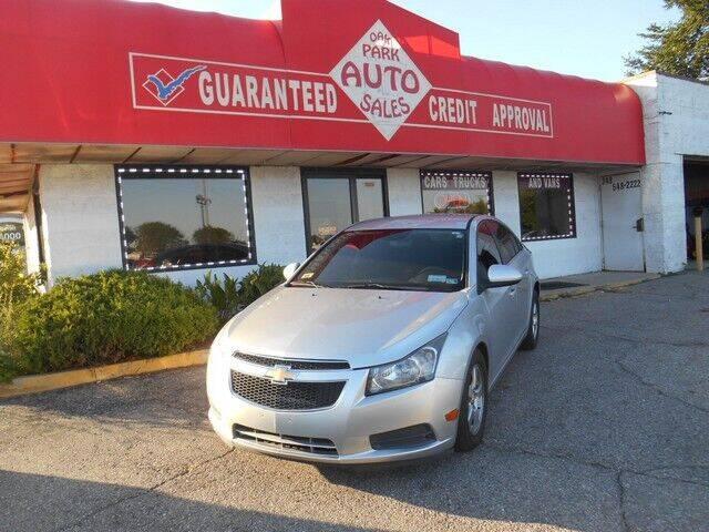 2013 Chevrolet Cruze for sale at Oak Park Auto Sales in Oak Park MI