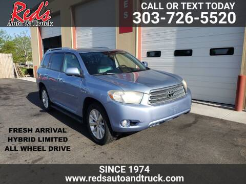 2009 Toyota Highlander Hybrid for sale at Red's Auto and Truck in Longmont CO