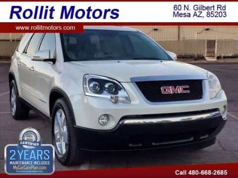 2008 GMC Acadia for sale at Rollit Motors in Mesa AZ