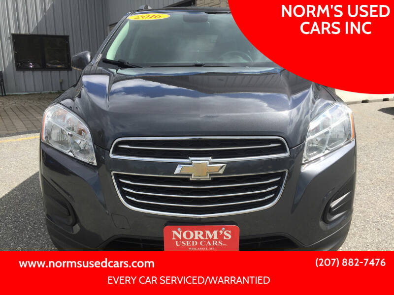 2016 Chevrolet Trax for sale at NORM'S USED CARS INC in Wiscasset ME