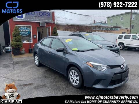 2014 Toyota Corolla for sale at CJ Motors Inc. in Beverly MA