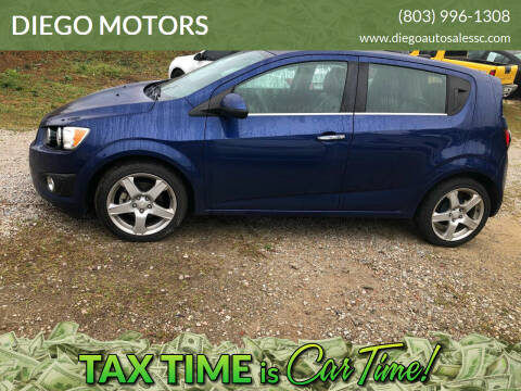 2014 Chevrolet Sonic for sale at DIEGO MOTORS in Lexington SC
