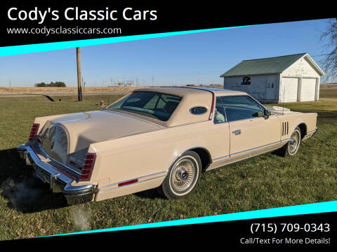 1979 Lincoln Mark V for sale at Cody's Classic Cars in Stanley WI
