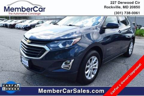 2018 Chevrolet Equinox for sale at MemberCar in Rockville MD