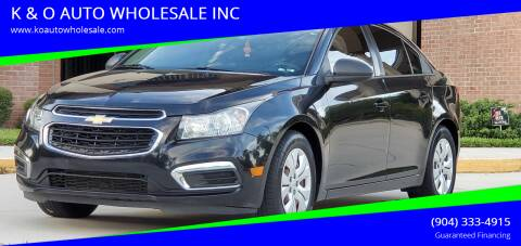 2016 Chevrolet Cruze Limited for sale at K & O AUTO WHOLESALE INC in Jacksonville FL