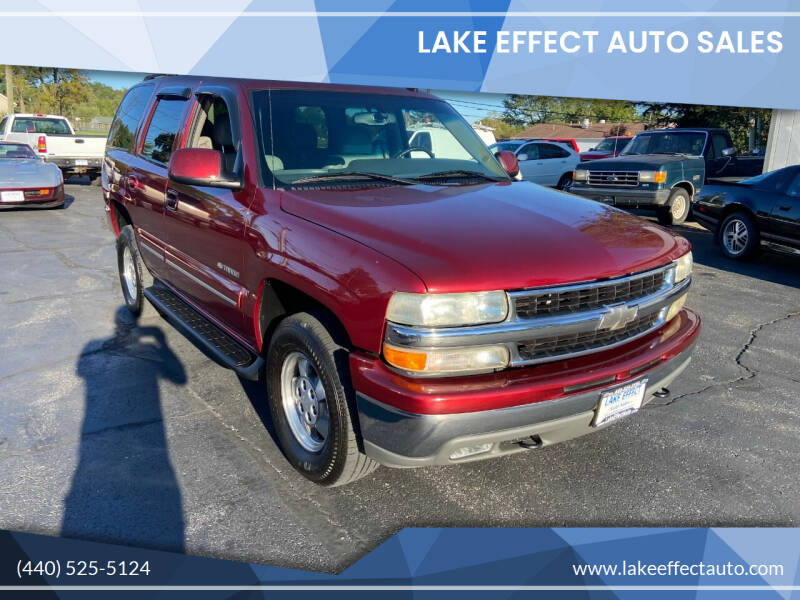 2003 Chevrolet Tahoe for sale at Lake Effect Auto Sales in Chardon OH
