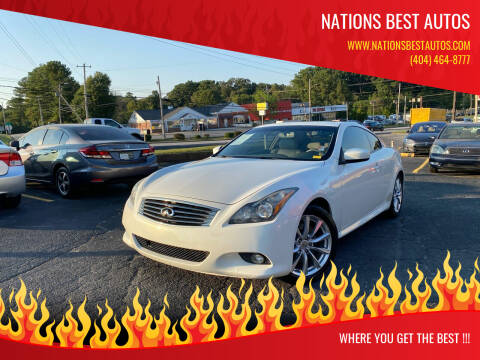 2011 Infiniti G37 Coupe for sale at Nations Best Autos in Decatur GA