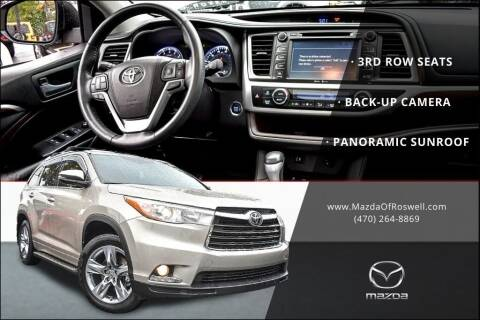 2015 Toyota Highlander for sale at Mazda Of Roswell in Roswell GA