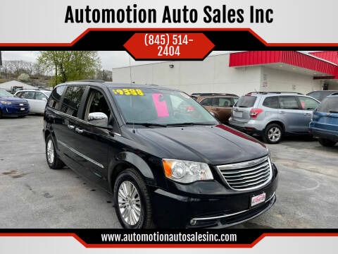 2013 Chrysler Town and Country for sale at Automotion Auto Sales Inc in Kingston NY