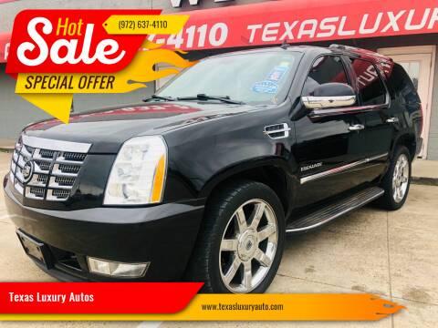 2010 Cadillac Escalade for sale at Texas Luxury Auto in Cedar Hill TX