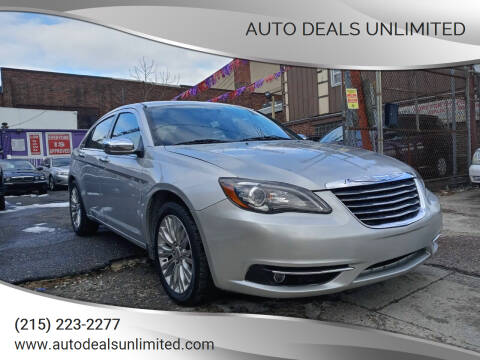 2012 Chrysler 200 for sale at AUTO DEALS UNLIMITED in Philadelphia PA