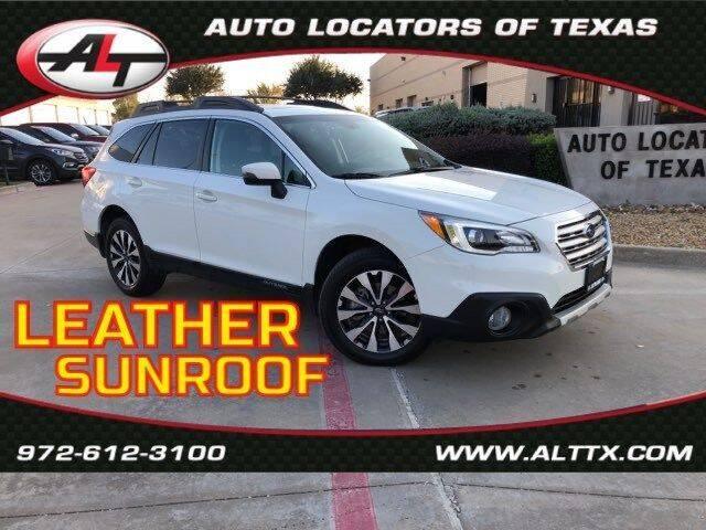 2016 Subaru Outback for sale at AUTO LOCATORS OF TEXAS in Plano TX