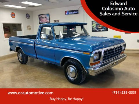 1979 Ford F-150 for sale at Edward Colosimo Auto Sales and Service in Evans City PA