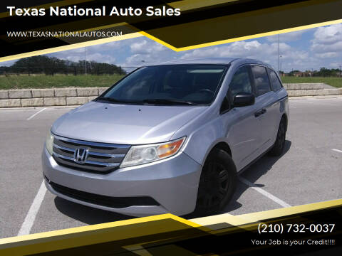 2013 Honda Odyssey for sale at Texas National Auto Sales in San Antonio TX