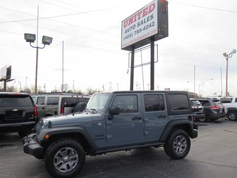 2015 Jeep Wrangler Unlimited for sale at United Auto Sales in Oklahoma City OK