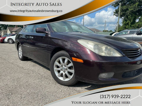 2003 Lexus ES 300 for sale at Integrity Auto Sales in Brownsburg IN