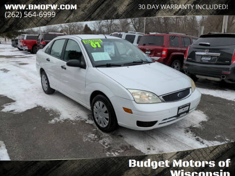 2007 Ford Focus for sale at Budget Motors of Wisconsin in Racine WI