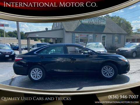 2016 Toyota Camry for sale at International Motor Co. in Saint Charles MO