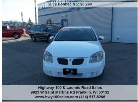 2009 Pontiac G5 for sale at Highway 100 & Loomis Road Sales in Franklin WI