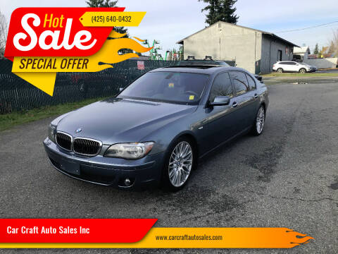 2007 BMW 7 Series for sale at Car Craft Auto Sales Inc in Lynnwood WA