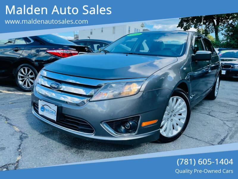 2010 Ford Fusion Hybrid for sale at Malden Auto Sales in Malden MA