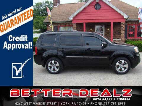 2015 Honda Pilot for sale at Better Dealz Auto Sales & Finance in York PA