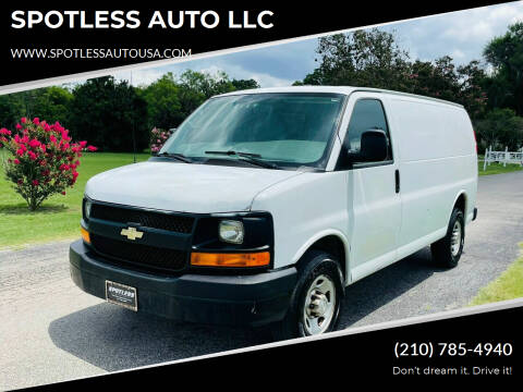 2011 Chevrolet Express Cargo for sale at SPOTLESS AUTO LLC in San Antonio TX