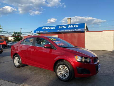 2016 Chevrolet Sonic for sale at Gonzalez Auto Sales in Joliet IL