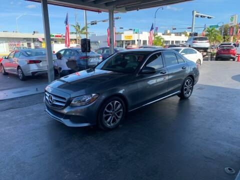 2017 Mercedes-Benz C-Class for sale at American Auto Sales in Hialeah FL