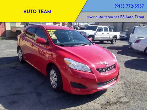 2012 Toyota Matrix for sale at AUTO TEAM in El Paso TX