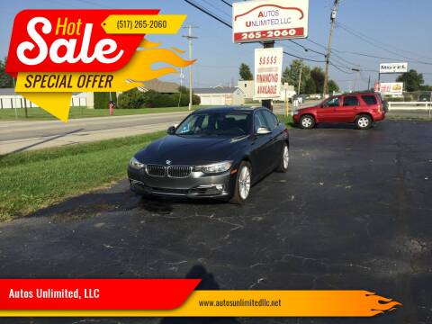 2015 BMW 3 Series for sale at Autos Unlimited, LLC in Adrian MI