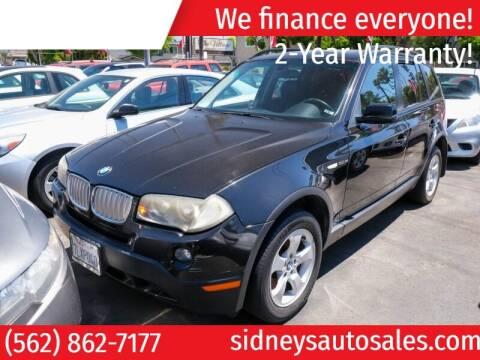 2007 BMW X3 for sale at Sidney Auto Sales in Downey CA