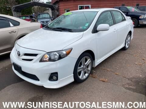 2013 Toyota Corolla for sale at Sunrise Auto Sales in Stacy MN