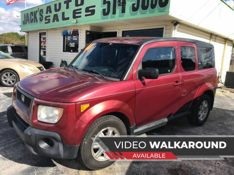 2006 Honda Element for sale at Jack's Auto Sales in Port Richey FL