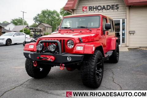 2006 Jeep Wrangler for sale at Rhoades Automotive in Columbia City IN