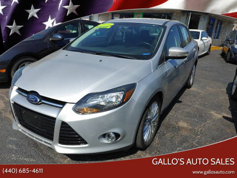 2013 Ford Focus for sale at Gallo's Auto Sales in North Bloomfield OH