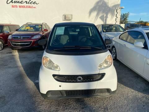 2013 Smart fortwo for sale at America Auto Wholesale Inc in Miami FL