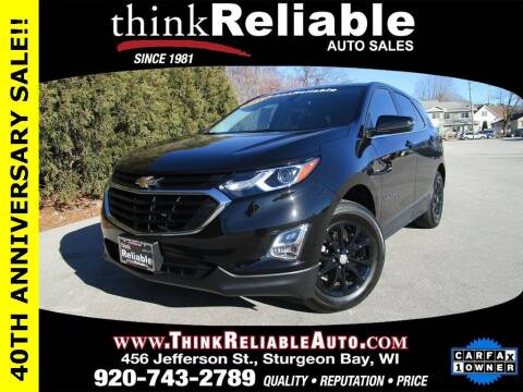 2019 Chevrolet Equinox for sale at RELIABLE AUTOMOBILE SALES, INC in Sturgeon Bay WI