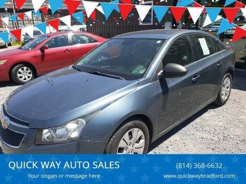 2012 Chevrolet Cruze for sale at QUICK WAY AUTO SALES in Bradford PA