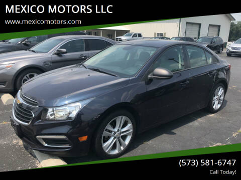 2016 Chevrolet Cruze Limited for sale at MEXICO MOTORS LLC in Mexico MO