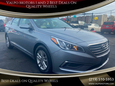 2016 Hyundai Sonata for sale at Valpo Motors 1 and 2  Best Deals On Quality Wheels in Valparaiso IN
