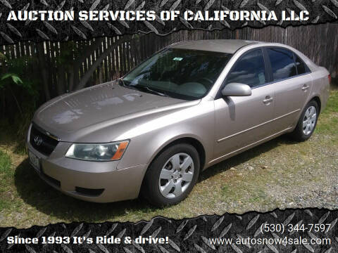 2007 Hyundai Sonata for sale at AUCTION SERVICES OF CALIFORNIA in El Dorado CA